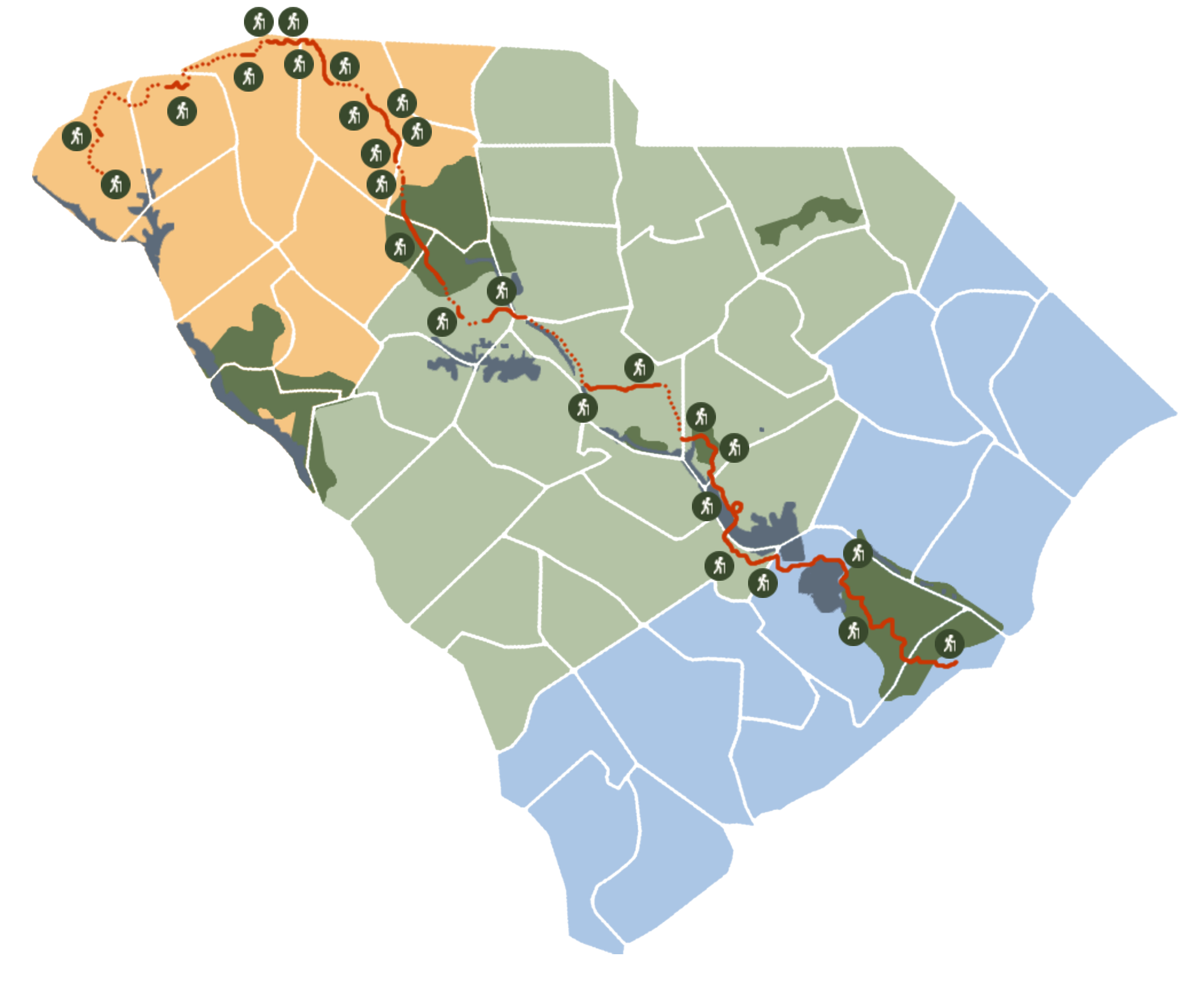 Palmetto Trail Map